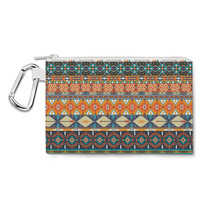 Hipster Aztec Tribal Geometric Canvas Zip Pouch - $14.99+