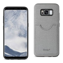 Reiko Samsung Galaxy S8/ Sm ANTI-SLIP Texture Protective Cover With Card Slot In - $10.12