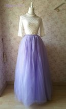 Adult Maxi Floor Length Tulle Skirt High Waisted 6layer Full Tulle Skirts-Purple