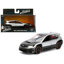 Brians Subaru Impreza WRX STI Silver and Black Fast & Furious Movie 1/32 Diecast - $15.86