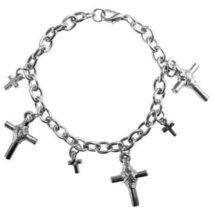 Dangling Charm Bracelet Cross Charm Bracelet Chained Stylish Gift - $9.80