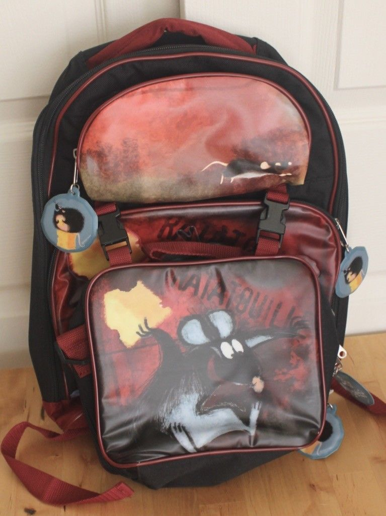 Disney Pixar Ratatouille Remy Rat Children's School Backpack & Lunchbox Pail Set