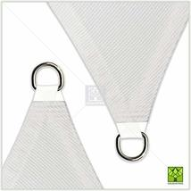ColourTree 16' x 16' x 22.6' Right Triangle White Sun Shade Sail Canopy Awning S image 3