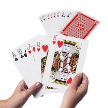 """Jumbo 8"""" x 11"""" Party Novelty Full Poker Playing Card Deck - $36.00"""