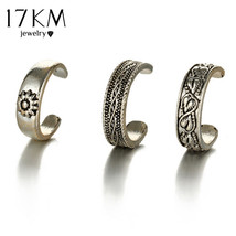 17KM Punk Style Sexy Carved Heart Toe Ring Sets Party Rings for Women Ma... - $13.67