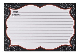 """C.R. Gibson 40 Count Recipe Cards, Lined Back To Front, Cards Measure 4""""... - $17.32"""