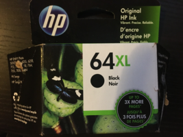 New (Opened Box) HP 64XL Black Ink Printer Cartridge  - $24.99
