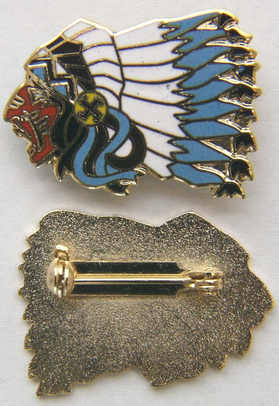 Primary image for WWI 103rd Aero Squadron / SPA 124 Indian Cloisonné enamel Pin