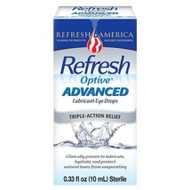 Refresh Optive Advanced Lubricant Eye Drops, 0.33 oz - $19.54