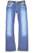 Levi 504 7 x 32 slouch straight leg low rise dark wash image 12