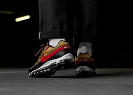 Nike Air Max 97 BW Metallic Gold Red Trainers image 6