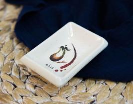 Pack of 6 Melamine Zen Swirl Eggplant Small Soy Sauce Condiment Tetragon... - $18.99