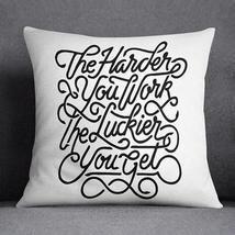 Work Hard Throw Pillow Case Pillow Sham Cushion - ₹2,329.00 INR+