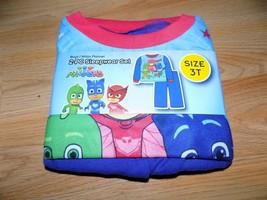 Toddler Size 3T PJ Masks 2 Piece Flannel Pajamas Set Sleepwear Shirt Pan... - $12.00