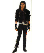 MICHAEL JACKSON Costume BAD Jacket Elastic Fabric Coat Cosplay Costume - $109.00