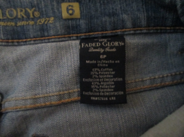 Womens Jeans Size 6P Faded Glory  - $12.93