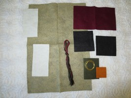 "FELT CRAFT KIT with FLOSS & TRIM to construct Small Banner - 17"" x 11 3/4""  - $2.48"