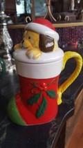 Pfaltzgraff Puppy Surprise Dog Stocking Covered Christmas Coffee Mug Tea Cup - $6.99
