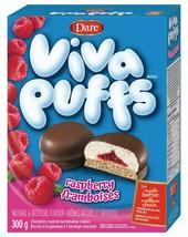 6 Pack Dare VIVA PUFF Raspberry Cookies 300g Each Canada FRESH & DELICIOUS - $47.89