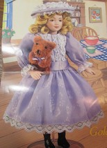"DANBURY MINT  Porcelain Doll  10"" STORYBOOK  ""GOLDILOCKS"" AND HER BEAR - $31.19"