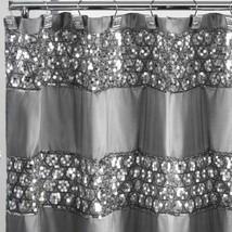 Sparkly Shower Curtain Unique Sequin Fabric Bling Sparkle Gorgeous Bathr... - $39.95