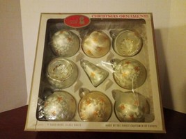 Vintage Kurt Adler's Santa's World Glass Christmas Ornaments Box Austria - $24.74