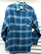 The Original Arizona Jean Co Mens  Large Blues Checked Flannel Shirt - $16.47