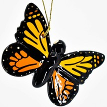 Handcrafted Painted Ceramic Monarch Butterfly Confetti Ornament Made in Peru image 1