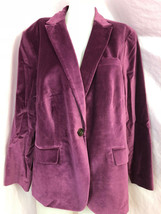Talbots Femme Velours One Bouton Blazer Taille 20WP, Prune Nwt - $34.92