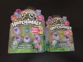 Hatchimals Colleggtibles 4 Pack Bonus Blue & 2 Pack Nest Mystery Mini Brand New - $23.75