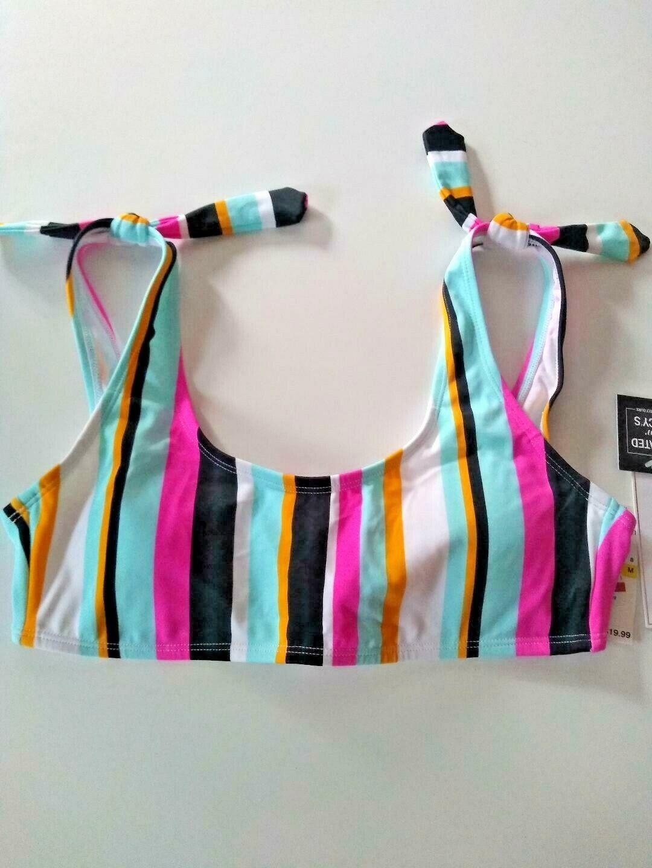 Hula Honey Aqua Bikini Top Size Medium