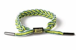 Rastaclat Mountain Dew Green Yellow Stripe Braided Shoelace Bracelet RC001MD2 image 2