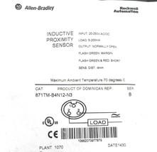 NEW ALLEN BRADLEY 871TM-B4N12-N3 PROX. SENSOR 871TMB4N12N3, SER. B