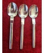 "Boda Nova Oval Steel Glossy Set of 3 place spoons 7 1/2""  Korea - $27.71"