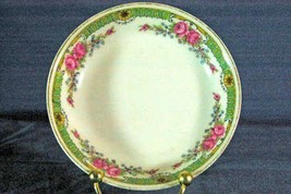 CH Field Haviland Limoges Pink Floral & Scroll Green GDA Mark Berry Bowl - $5.54