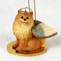 POMERANIAN (RED) ANGEL DOG CHRISTMAS ORNAMENT HOLIDAY Figurine Memorial ... - $12.98