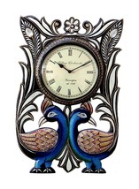 decorative peacock clock for home and office decorative arts  - $49.00