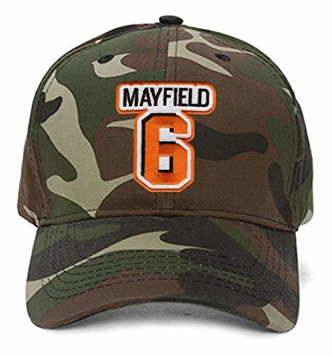 Baker Mayfield Hat - Cleveland Football Adjustable Cap (Camo)