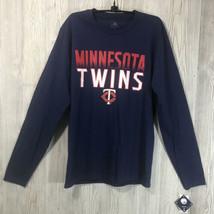 Genuine Merch Minnesota Twins Mens Multicolored Longsleeve Tee Size S ML... - $11.88