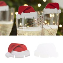 10 Pcs Christmas Table Place Cards Xmas Hats Champagne Wine Caps Holiday... - $2.50