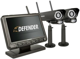 Wireless Security System Digital 7 in. Monitor DVR 2 Night Vision Cameras New - $282.47 CAD
