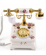 Antique Style Rotary Phone Princess French Style Old Fashioned Handset T... - $86.32