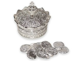 Elegant Silver Crown Wedding Arras de boda with 13 coins set - $26.73
