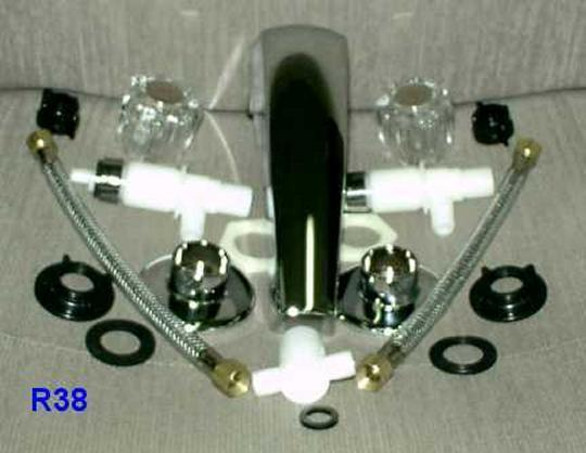 Mobile Home Trailer RV Chrome Adjustable Garden Tub Filler Faucet ...