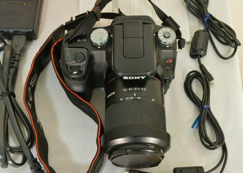 Sony Alpha a100 10.2MP Digital SLR Camera - Black (Kit w/ DT 18-70mm Lens) image 11