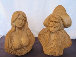 """Prate Buccaneer Lady Wench 12"""" Tall Holland Mold Ceramic Bust 1977 Unpai... - $64.36"""