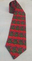 Holiday Traditions Hallmark Design Collection Christmas Trees Tie Red - $7.91