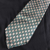 Robert Talbott Best Of Class Tie Necktie Geometric Green Silver Fine Silk - $37.57