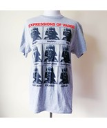 Disney Star Wars Expressions of Darth Vader T-Shirt Shirt Gray Black Red... - $14.99