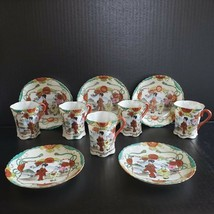 5 Porcelain Geisha Cup and Saucer Sets Made in Japan Hand Painted Gold M... - $49.99